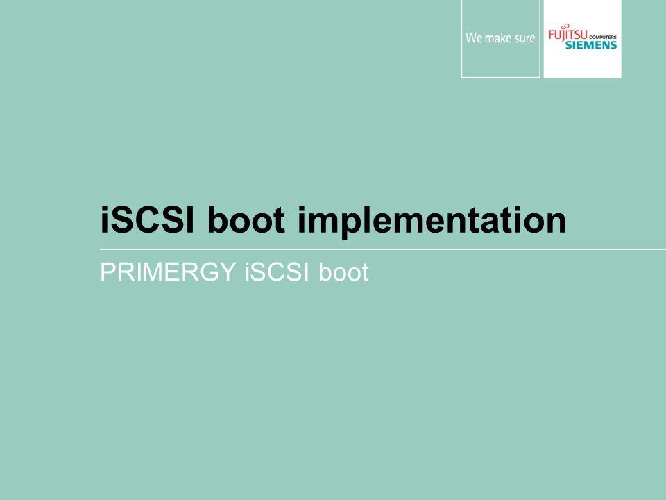 iSCSI boot implementation