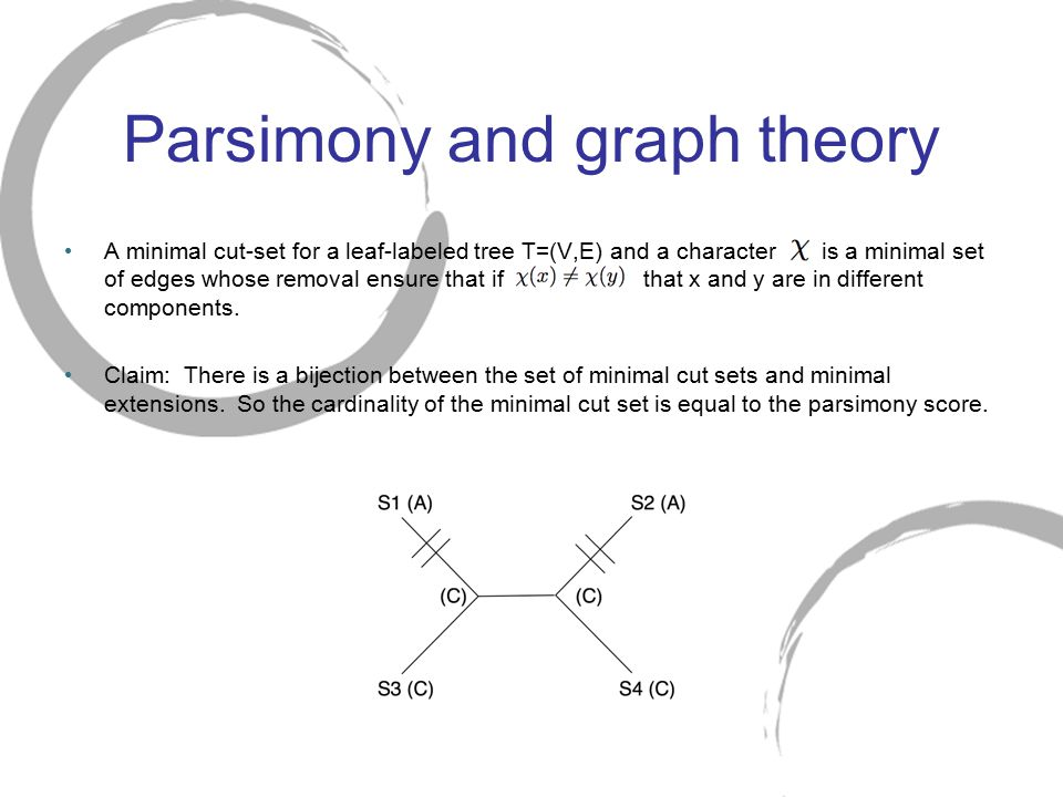 Parsimony and graph theory