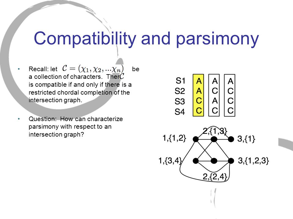 Compatibility and parsimony