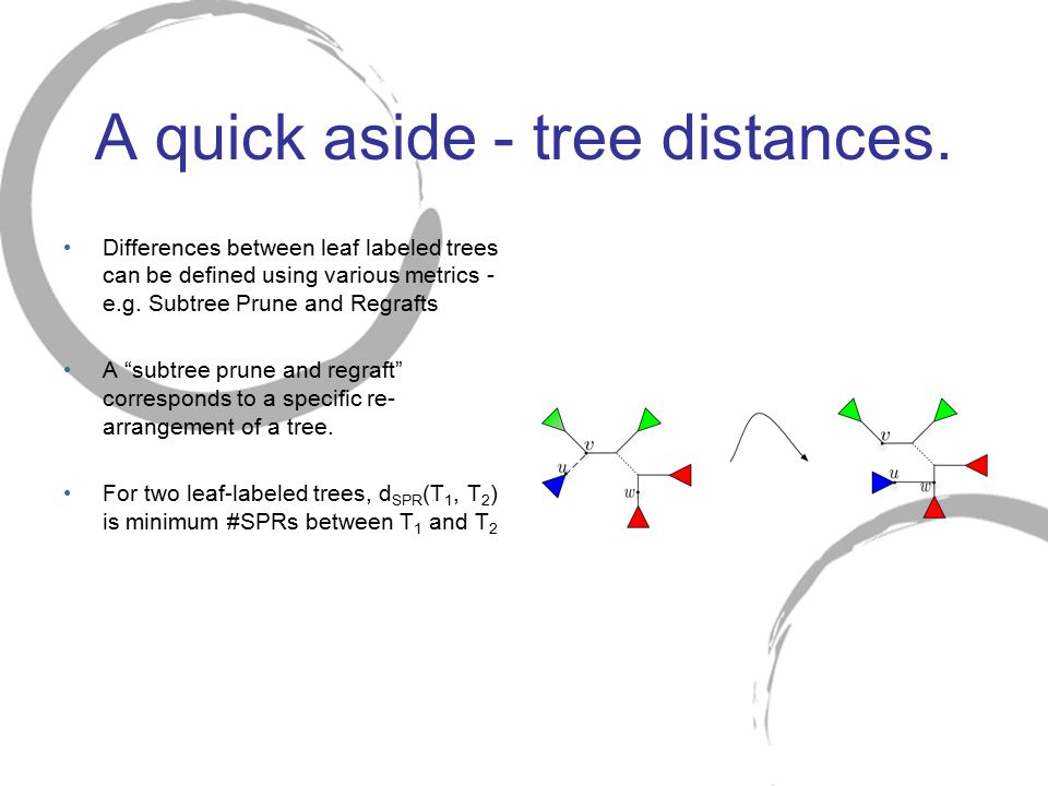 A quick aside - tree distances.