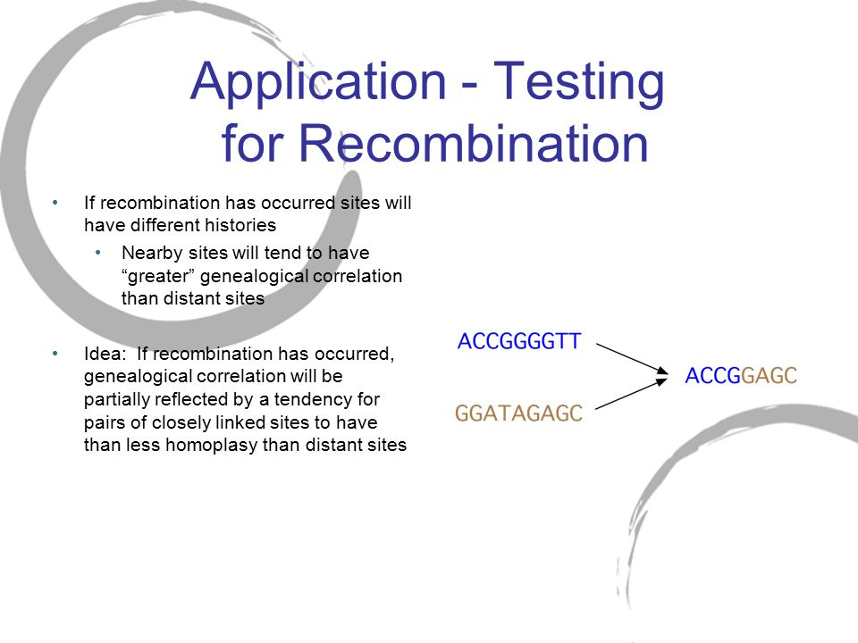 Application - Testing for Recombination
