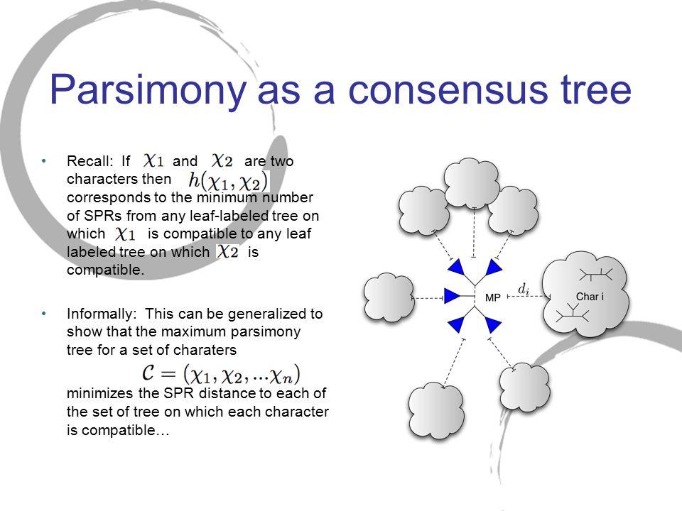Parsimony as a consensus tree