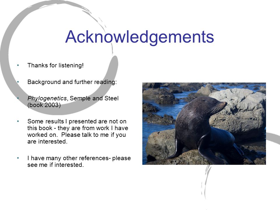 Acknowledgements Thanks for listening! Background and further reading: