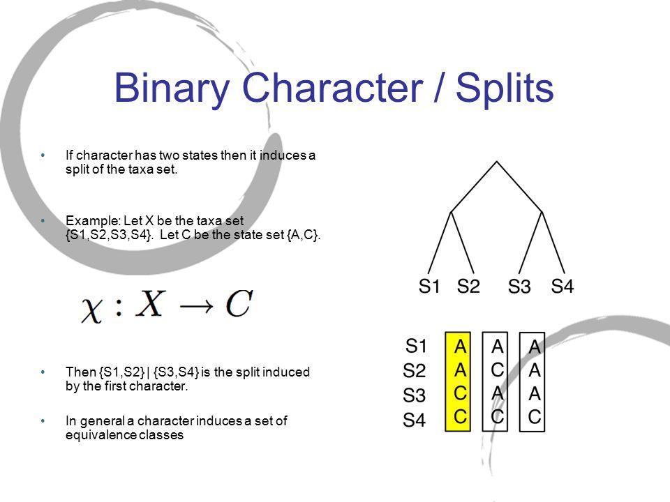 Binary Character / Splits