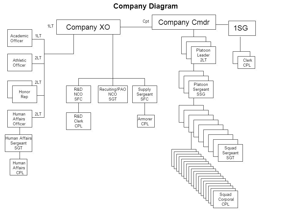 Company Diagram Company Cmdr Company XO 1SG Cpt 1LT Academic Officer