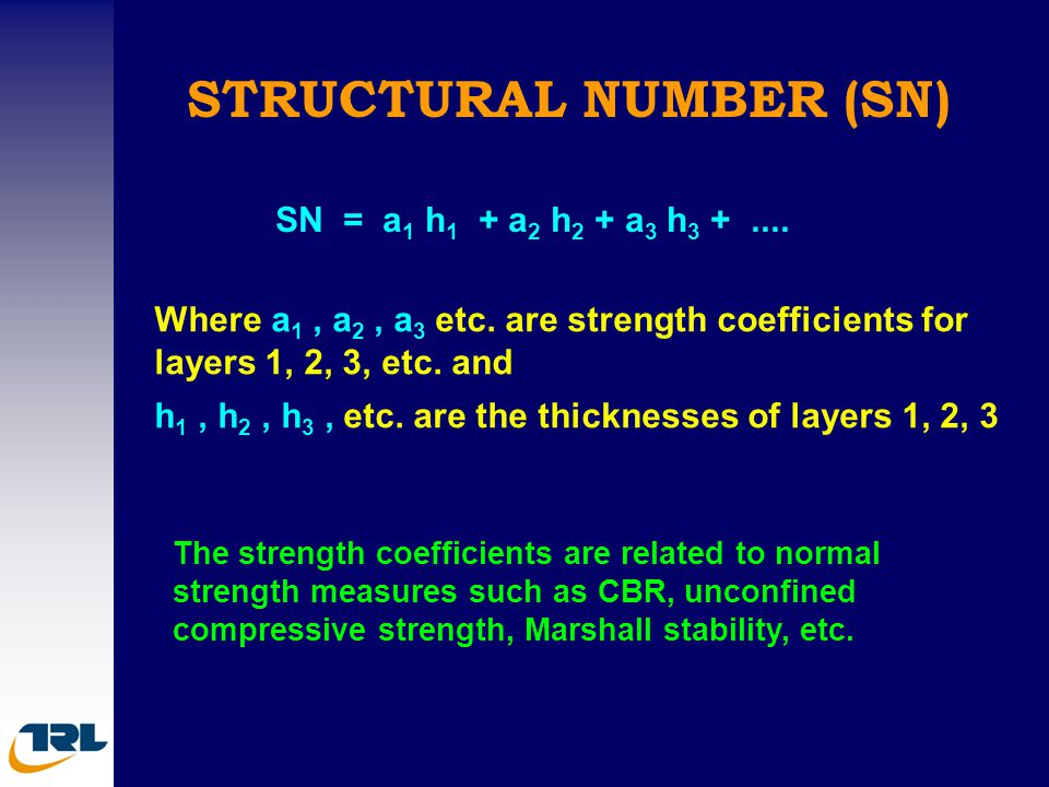 STRUCTURAL NUMBER (SN)