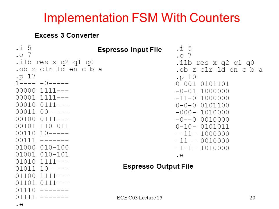 Implementation FSM With Counters