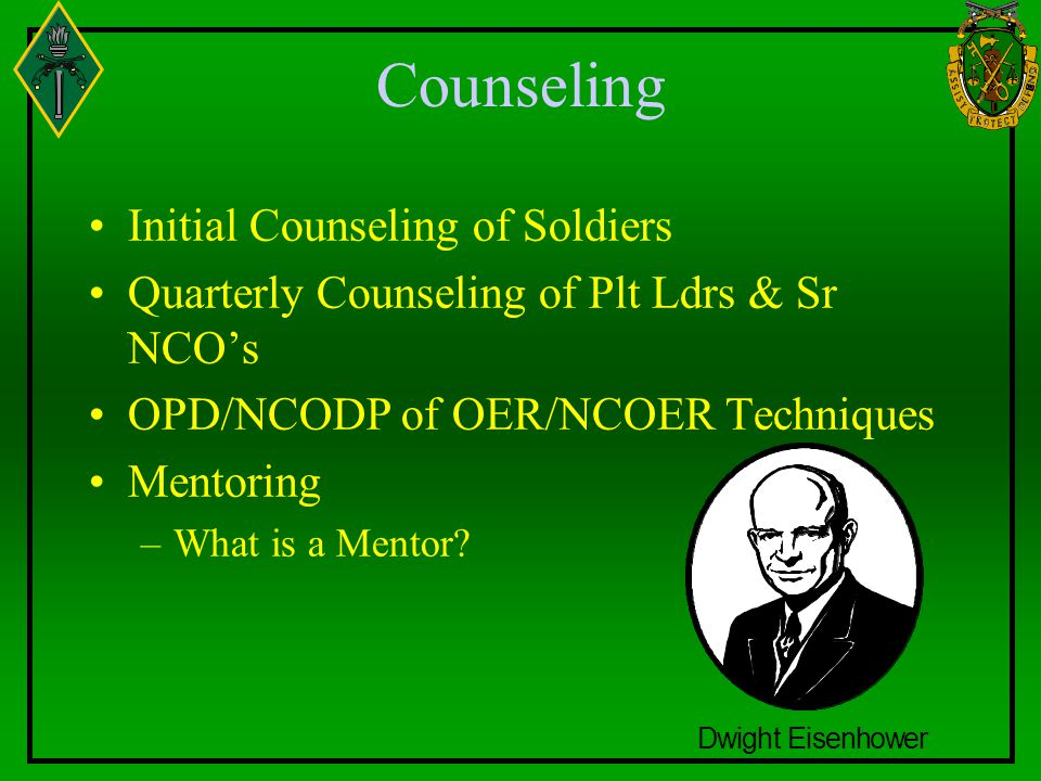 Counseling Initial Counseling of Soldiers