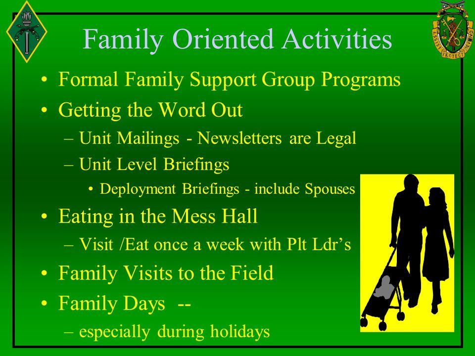 Family Oriented Activities