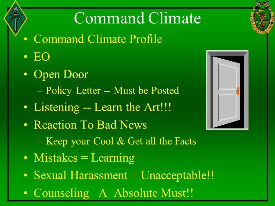 Command Climate Command Climate Profile EO Open Door