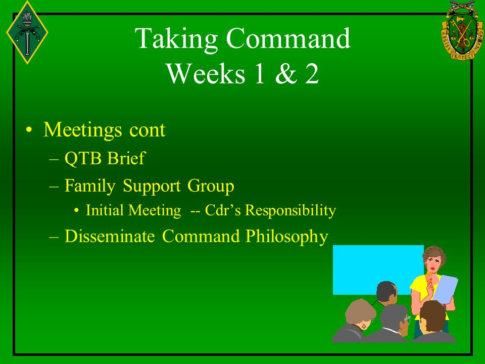 Taking Command Weeks 1 & 2 Meetings cont QTB Brief