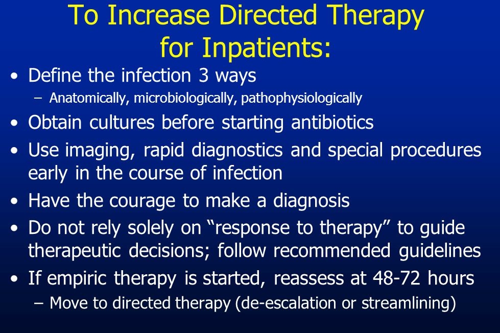 To Increase Directed Therapy for Inpatients: