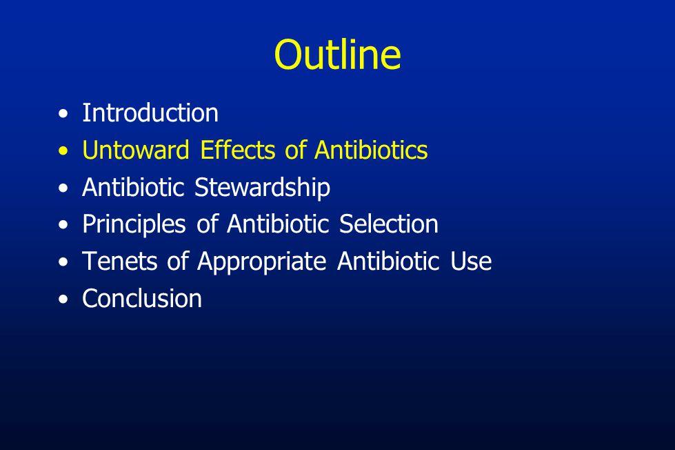 Outline Introduction Untoward Effects of Antibiotics