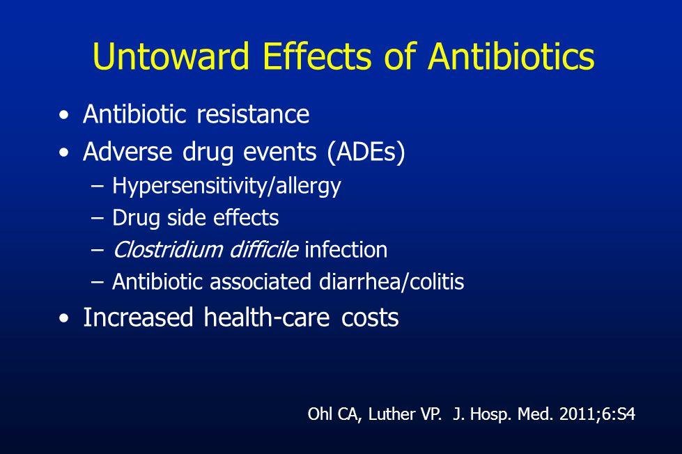 Untoward Effects of Antibiotics