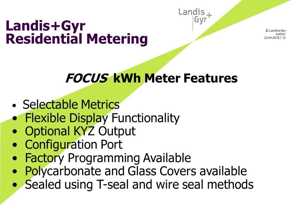 FOCUS kWh Meter Features