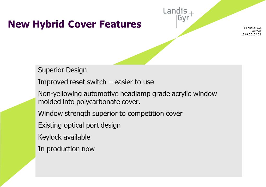 New Hybrid Cover Features