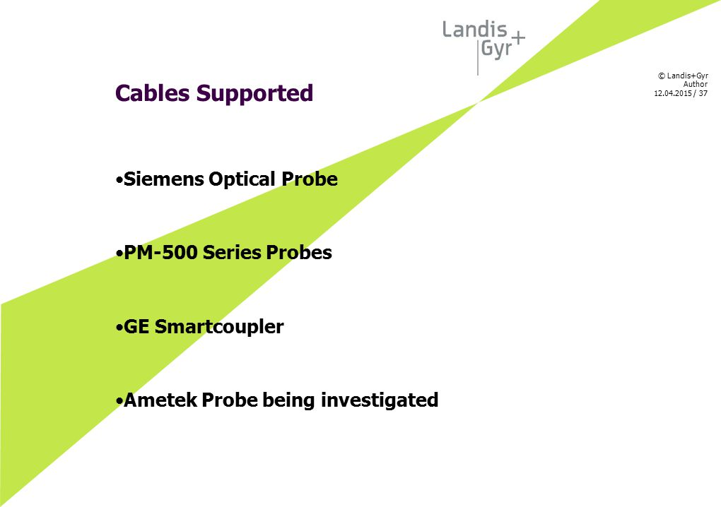 Cables Supported Siemens Optical Probe PM-500 Series Probes
