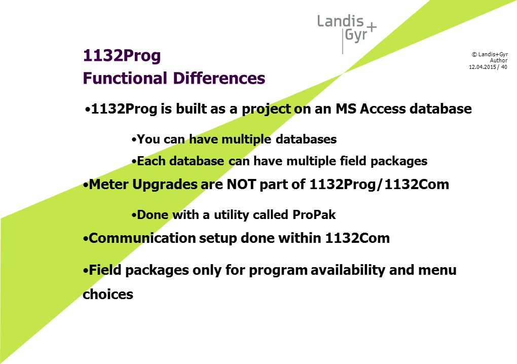 1132Prog is built as a project on an MS Access database