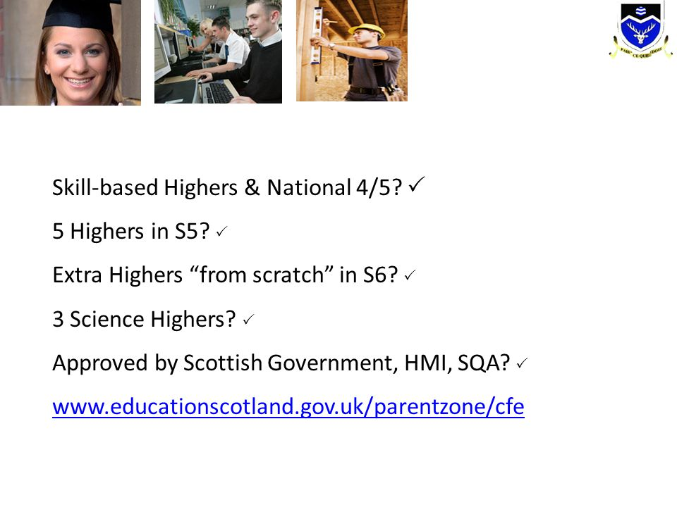 Skill-based Highers & National 4/5 