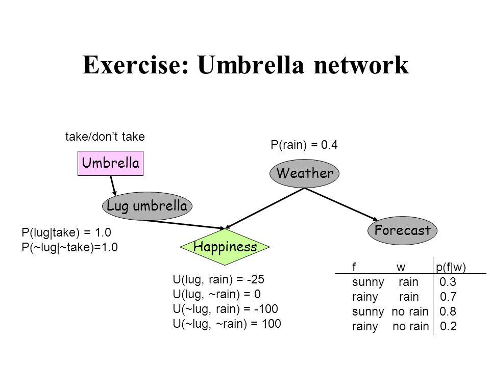 Exercise: Umbrella network