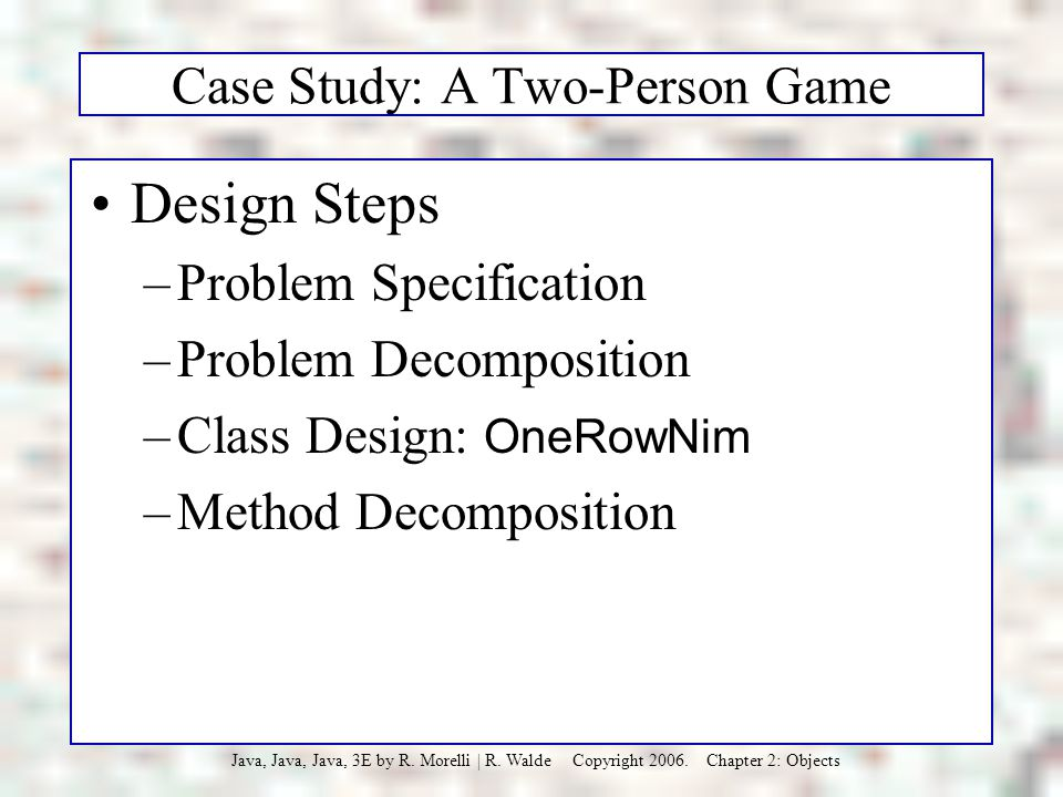 Case Study: A Two-Person Game