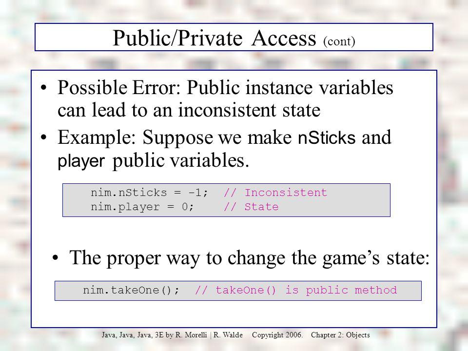Public/Private Access (cont)
