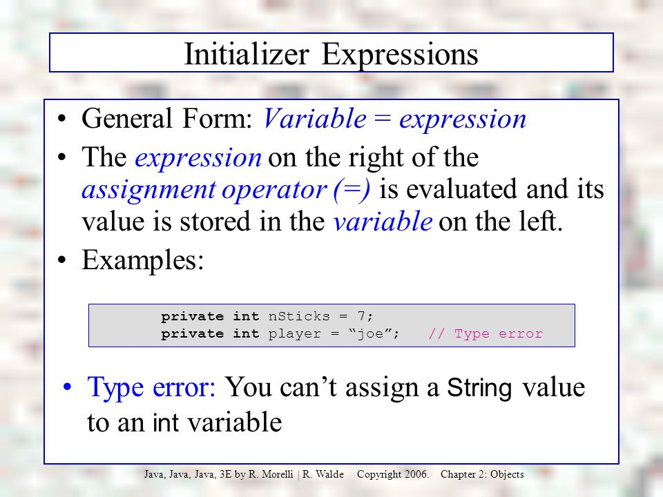 Initializer Expressions