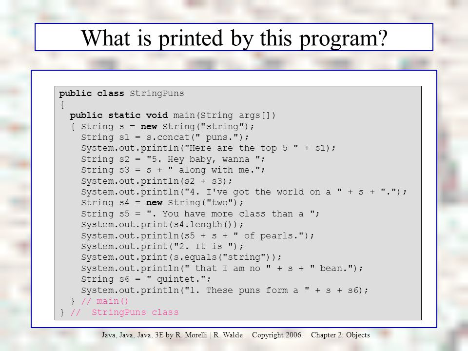 What is printed by this program