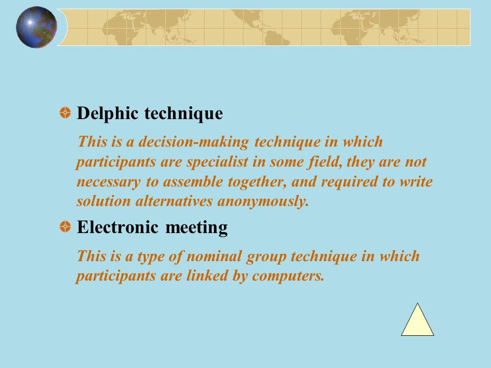 Delphic technique