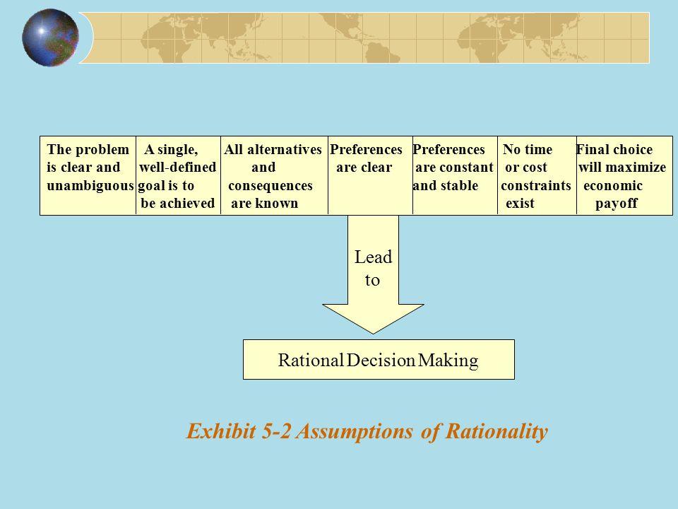 Exhibit 5-2 Assumptions of Rationality