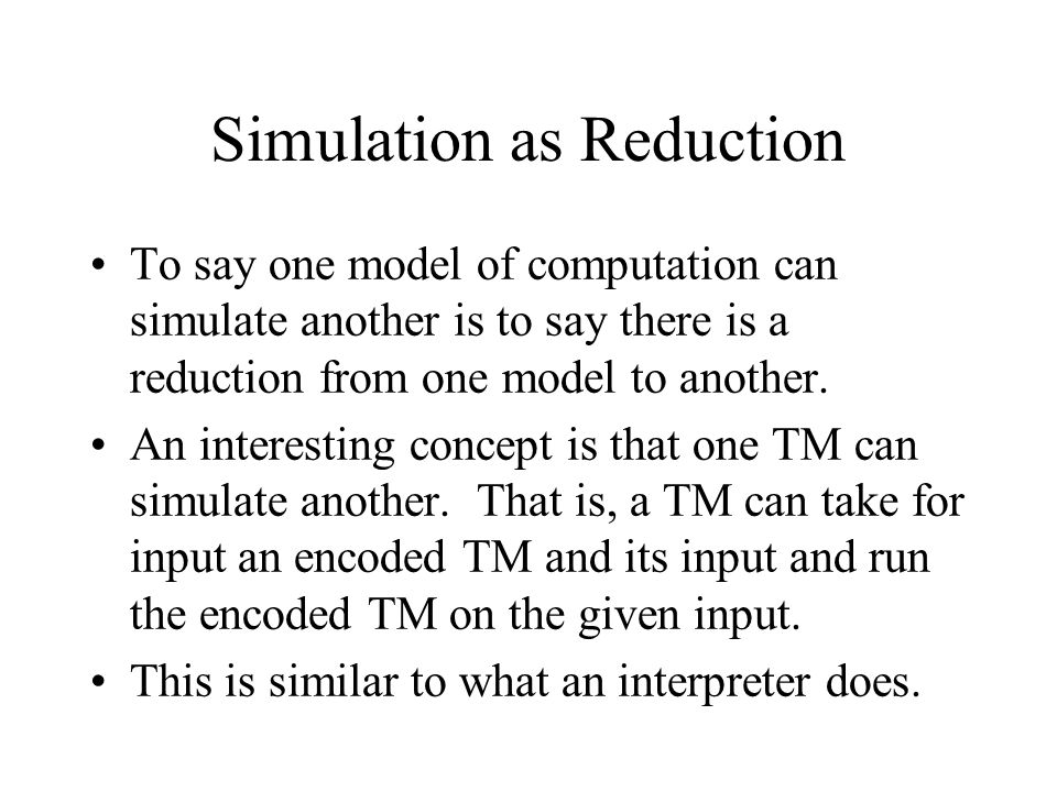 Simulation as Reduction
