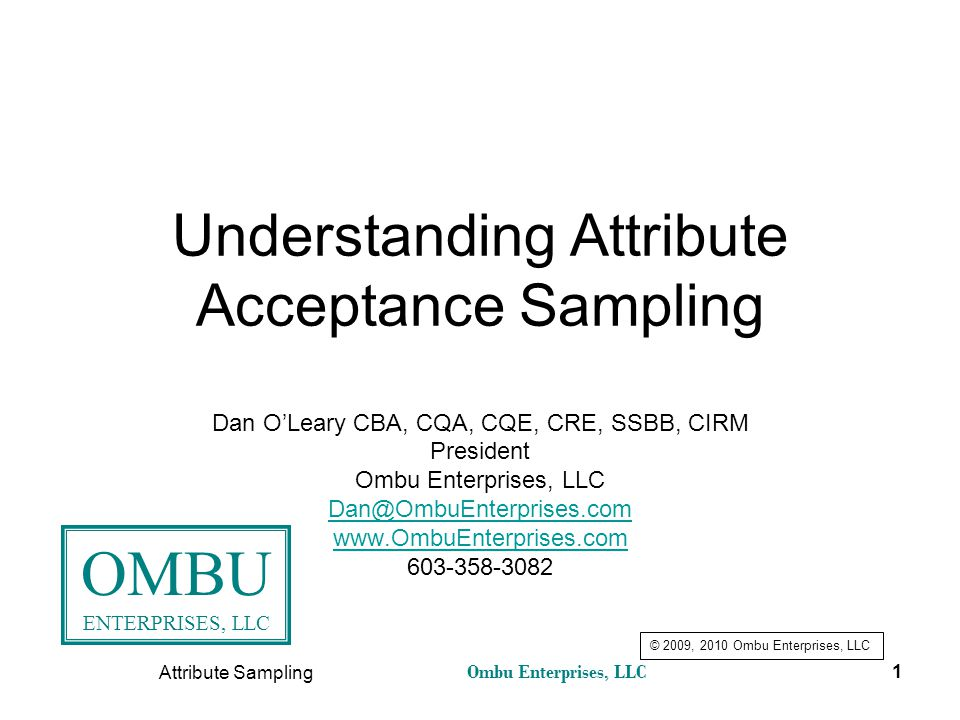 Understanding Attribute Acceptance Sampling