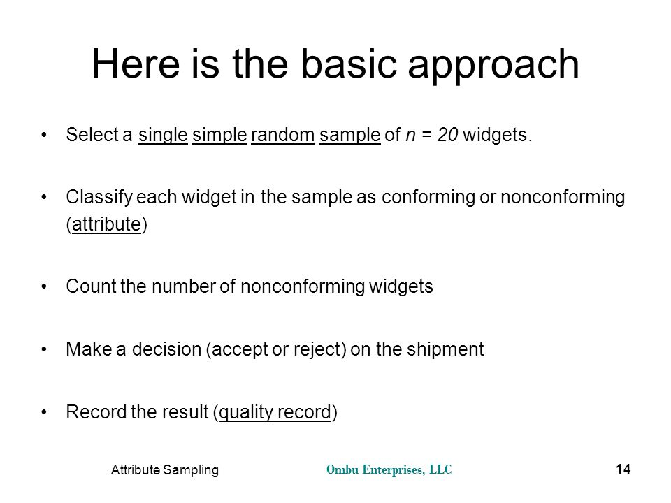 Here is the basic approach