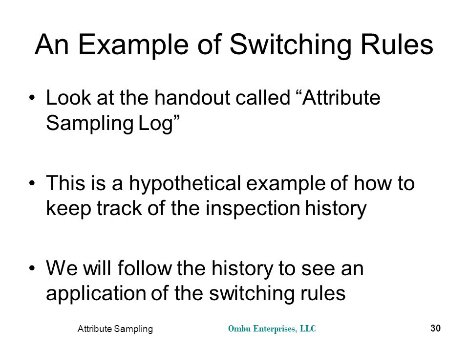 An Example of Switching Rules