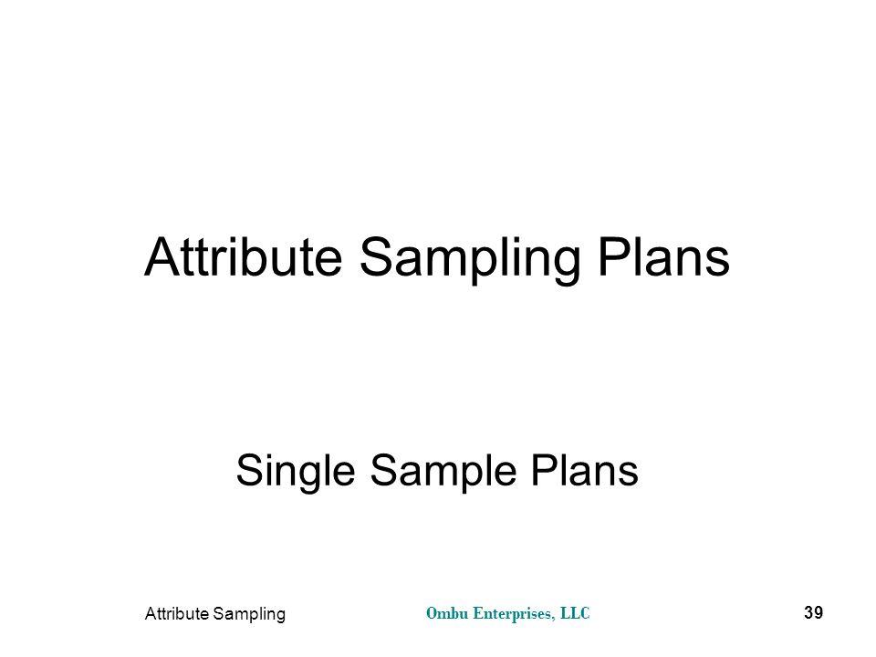 Attribute Sampling Plans