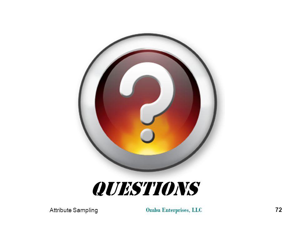 Questions Attribute Sampling