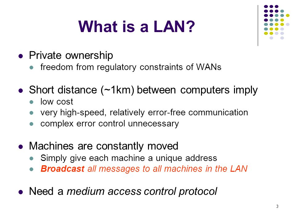 What is a LAN Private ownership