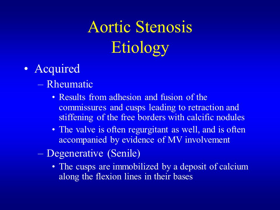 Aortic Stenosis Etiology