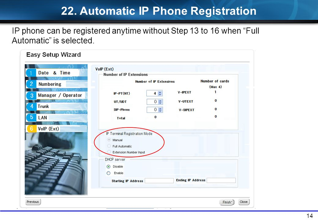 22. Automatic IP Phone Registration