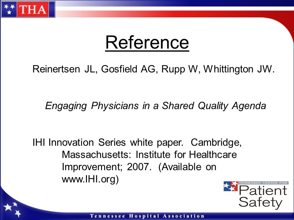 Engaging Physicians in a Shared Quality Agenda