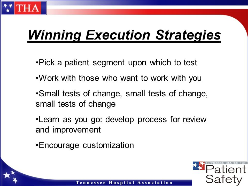 Winning Execution Strategies