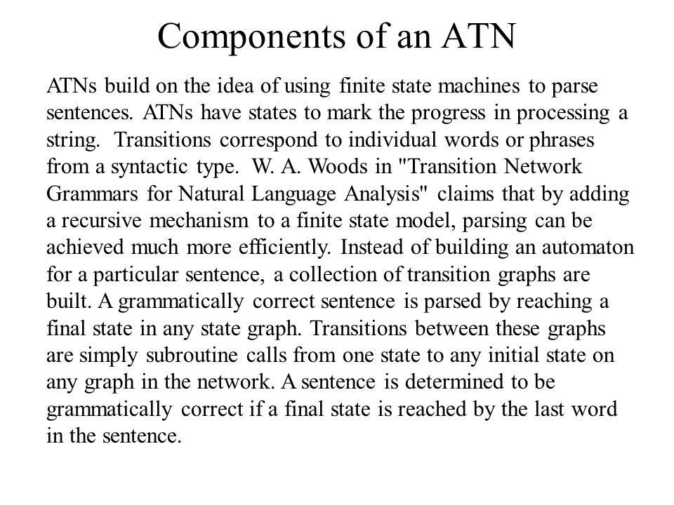 Components of an ATN