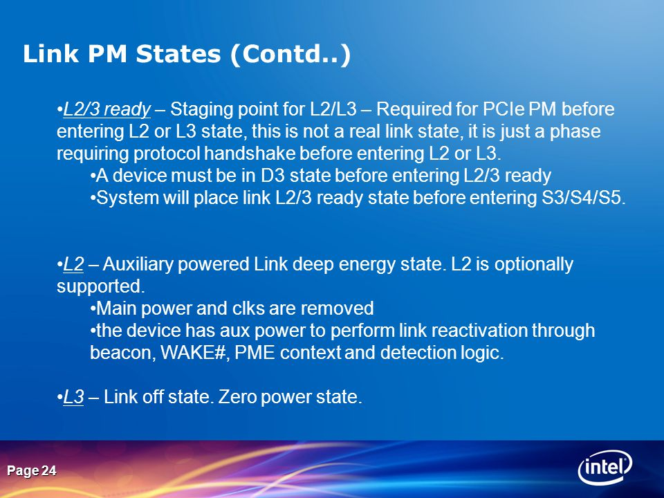 Link PM States (Contd..)