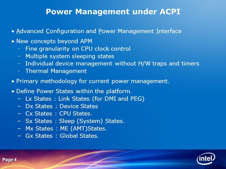 Power Management under ACPI