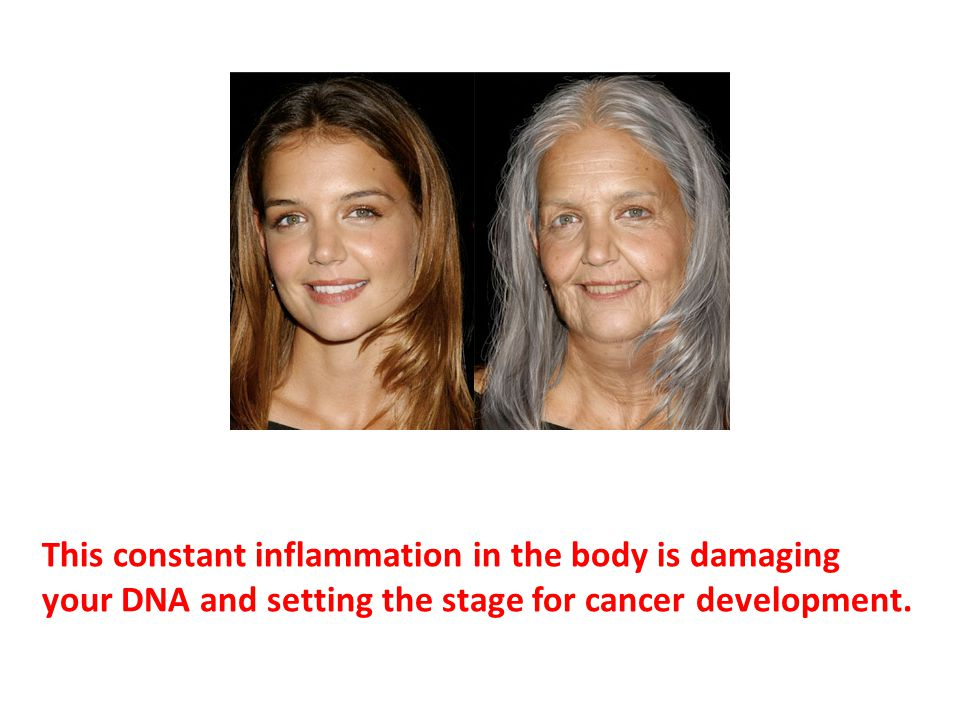 This constant inflammation in the body is damaging your DNA and setting the stage for cancer development.