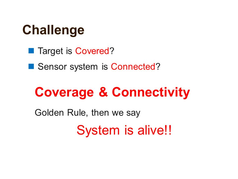 Coverage & Connectivity System is alive!!