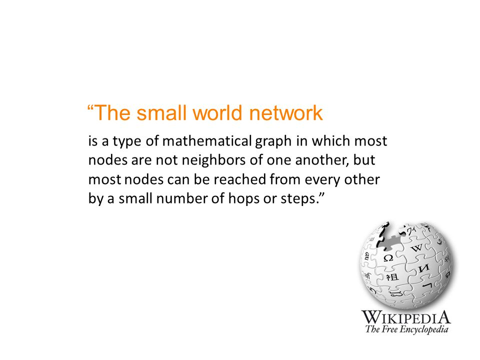 The small world network