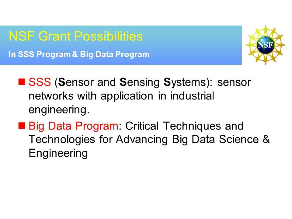 NSF Grant Possibilities