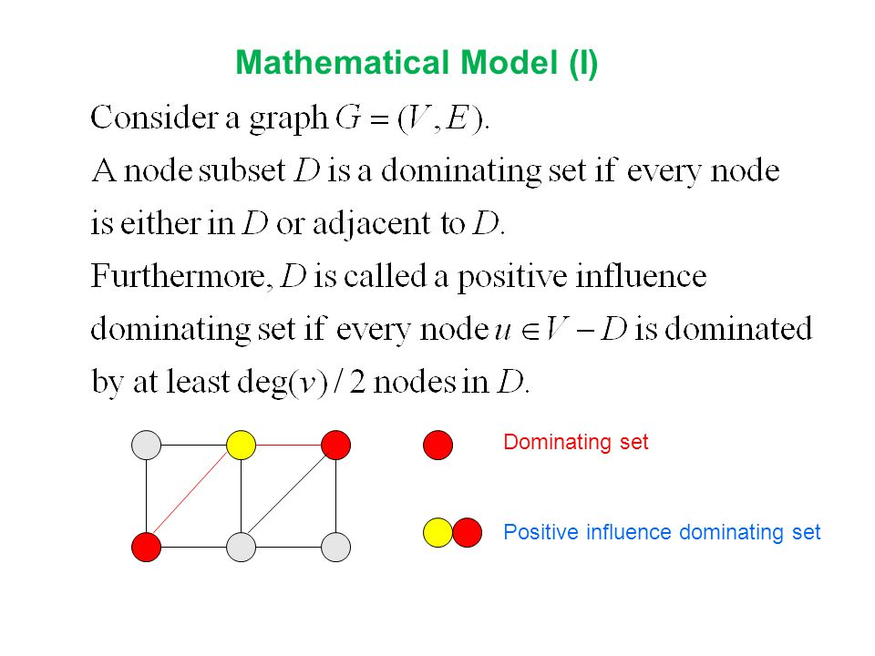 Mathematical Model (I)