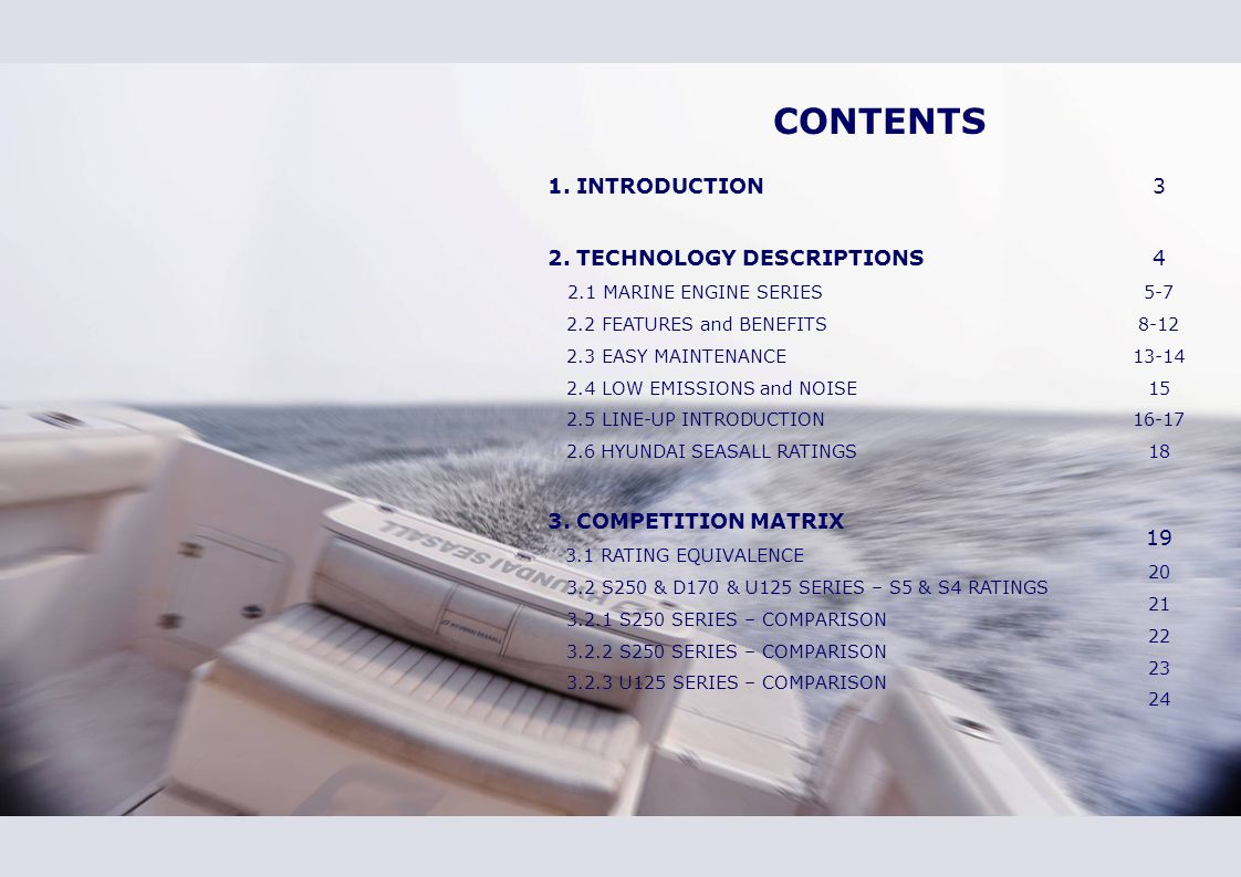 1. INTRODUCTION New Generation of Excellent Marine Diesel Engine